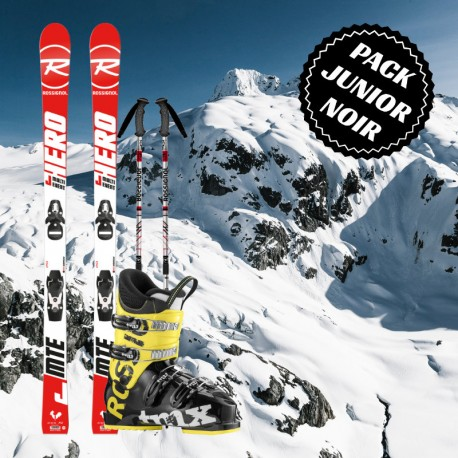 Junior black ski package for boy