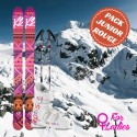 Pack complet ski rouge junior fille