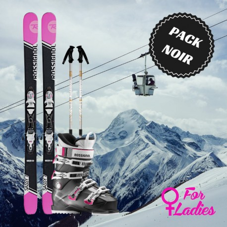 Black woman ski package