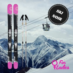 Black ski for woman