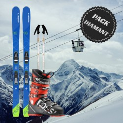 Pack ski diamant homme