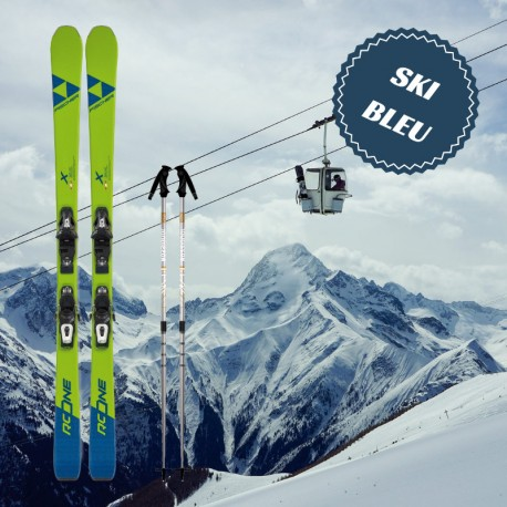 Blue ski for man