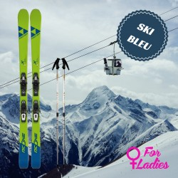 Blue ski for woman