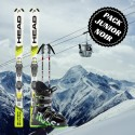Pack complet ski noir junior