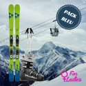 Blue woman ski package
