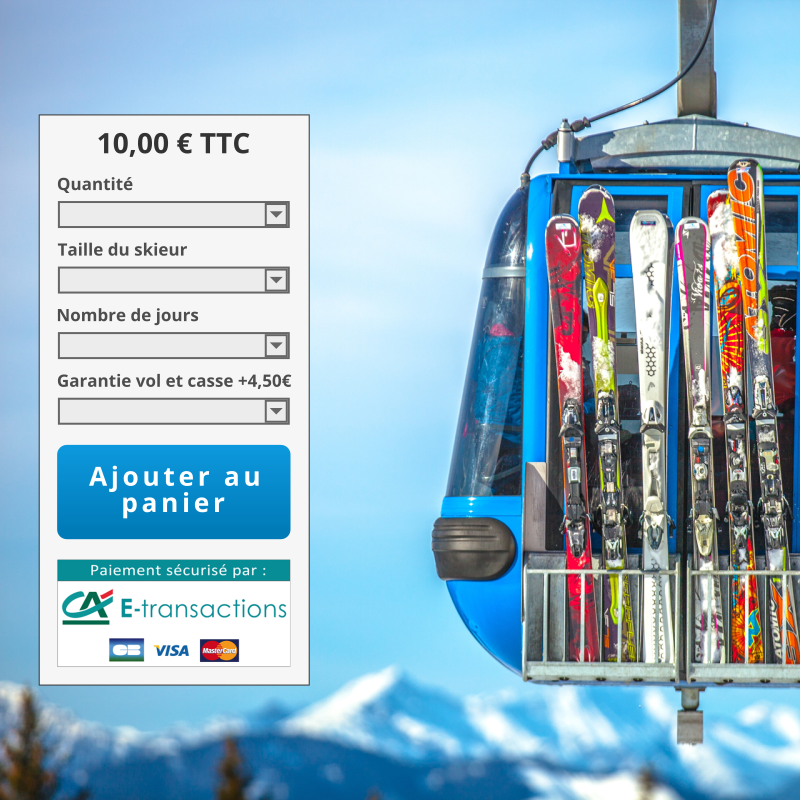 Book your ski equipment