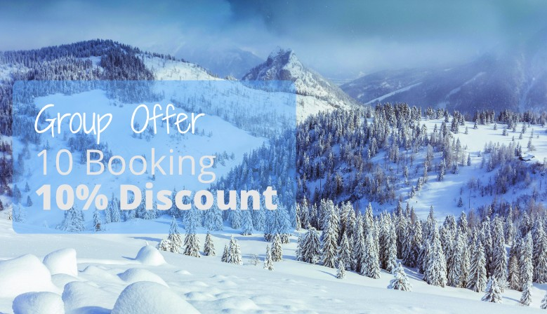 Group discount - 10% discount on the purchase of 10 ski rentals