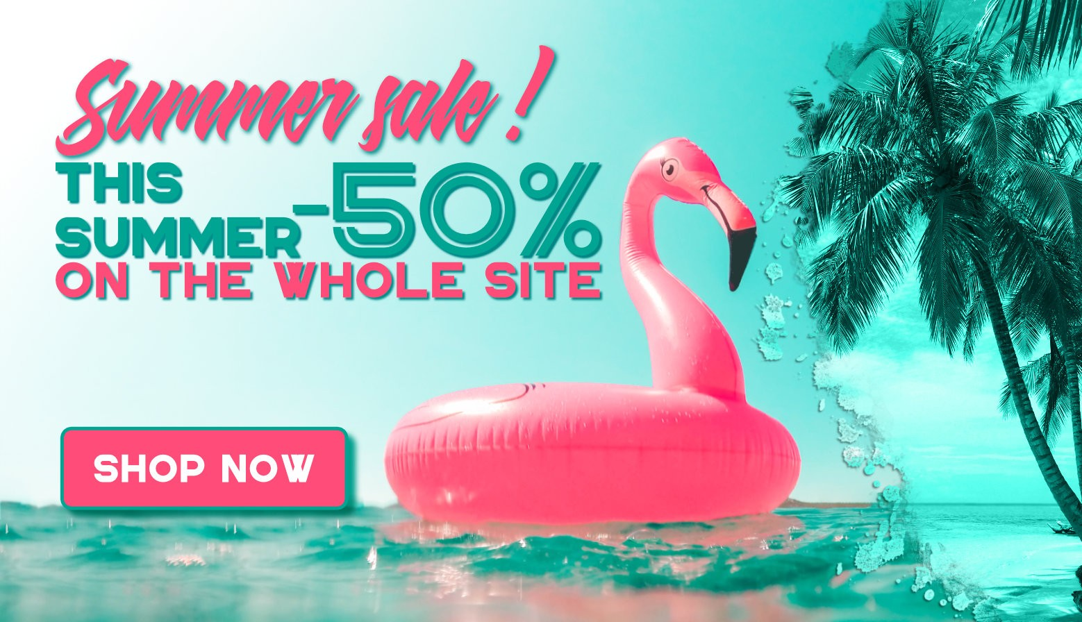 This summer -50% on the whole site