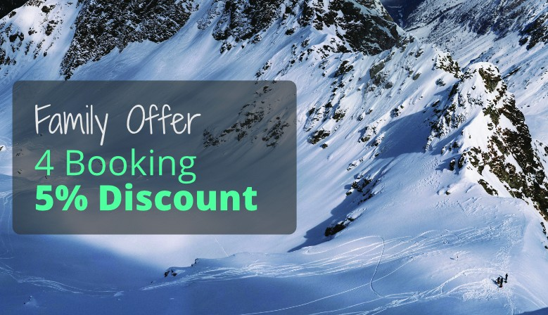 Family discount - 5% discount on the purchase of 4 ski rentals