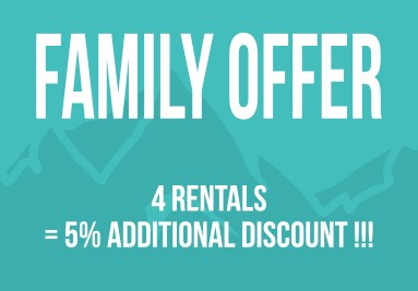 Family offer 5% off on 4 rental products