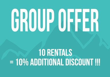 Group offer 10% off on 10 rental products